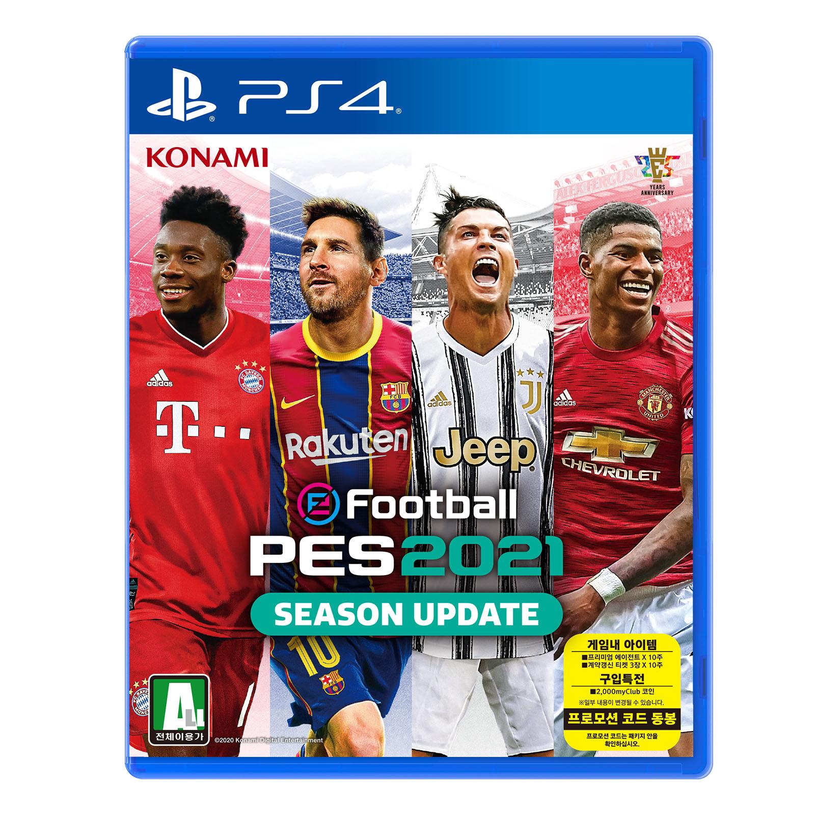 코나미 PS4 이풋볼 페스 2021 시즌 업데이트 한글판, 단일상품