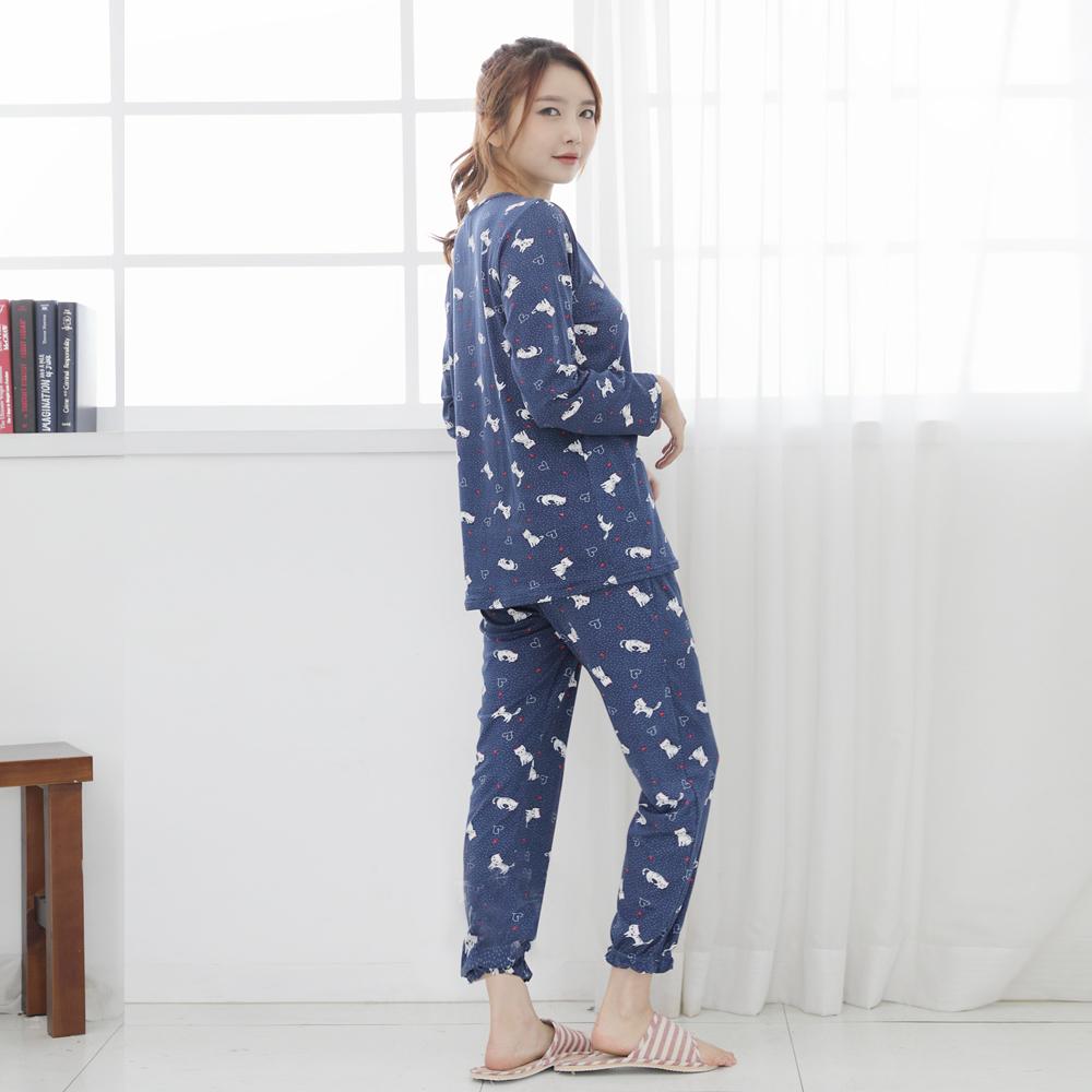 애플스토리 여성용 보들보들 편안한 울트라 스판 마약 잠옷 상하 세트