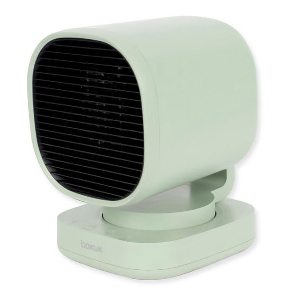 보국전자 2단 미니 PTC 온풍기, BKH-1083PG, 나일그린