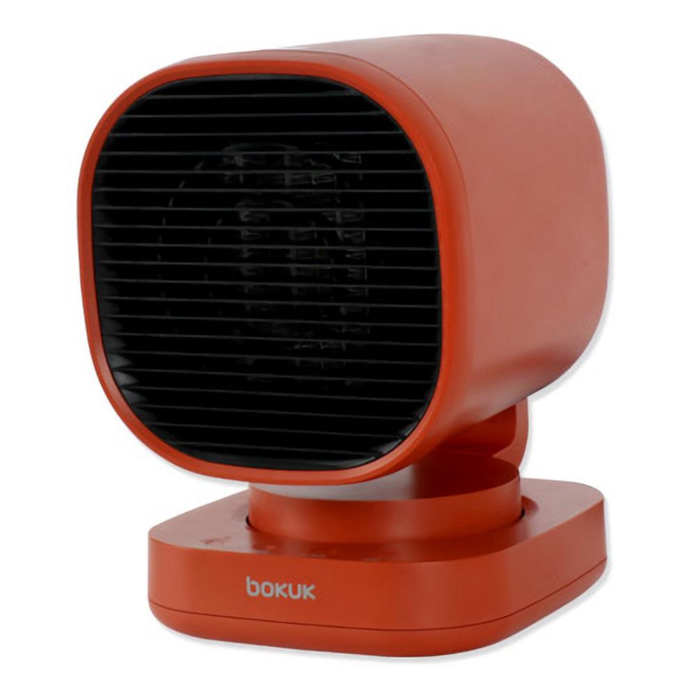 보국전자 2단 미니 PTC 온풍기, BKH-1083PR, 칠리레드
