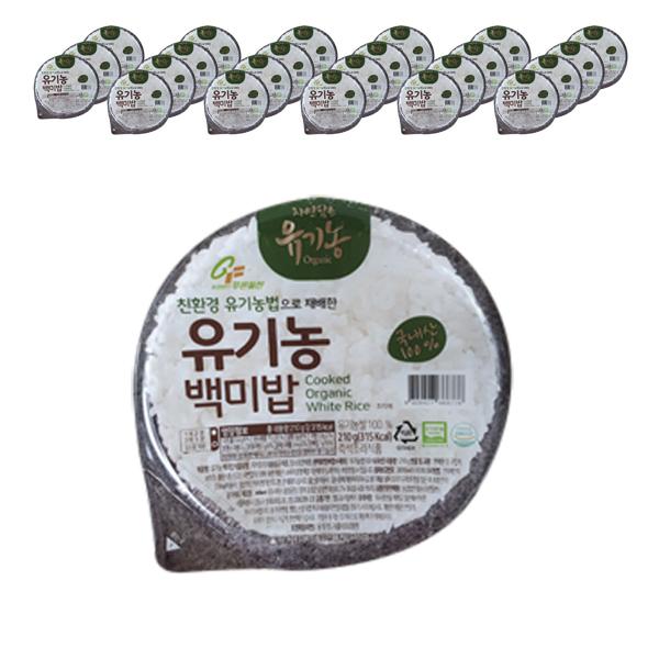 푸른들판 유기농 백미 즉석밥, 210g, 24개