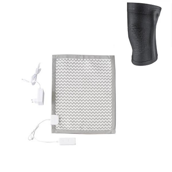 닥터스 탄소 카본 온열패드 블루투스 DH0020001 + 무릎보호대, 혼합색상, 소(480 x 380 x 5 mm)