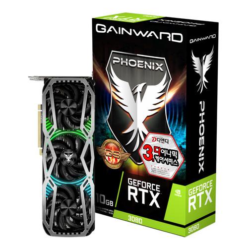 게인워드 지포스 RTX 3080 피닉스 그래픽카드 GS OC D6X 10GB, 단일상품