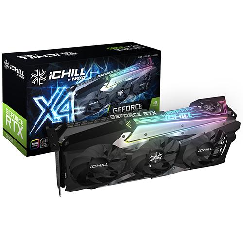 INNO3D iChiLL 지포스 RTX 3080 그래픽카드 D6X 10GB X4, 단일상품