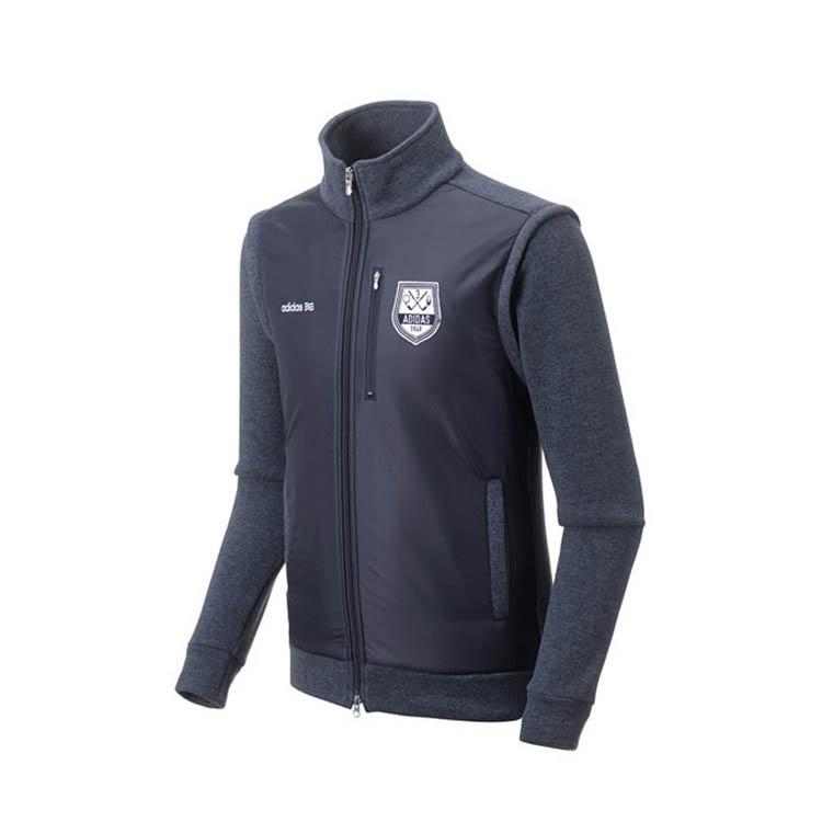 아디다스 남성용 플리스 스웨터 자켓, 네이비(N68112)