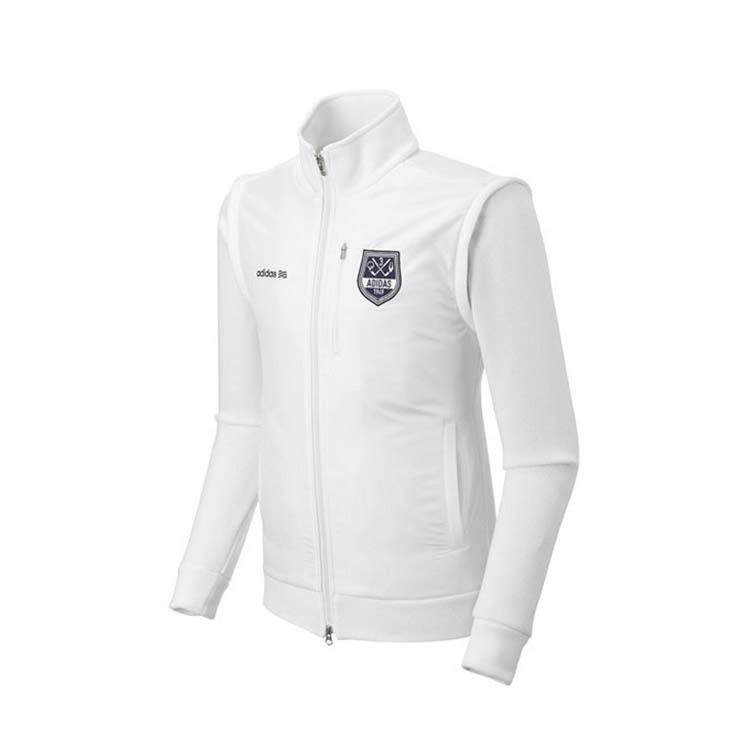 아디다스 남성용 플리스 스웨터 자켓, 화이트(N68113)