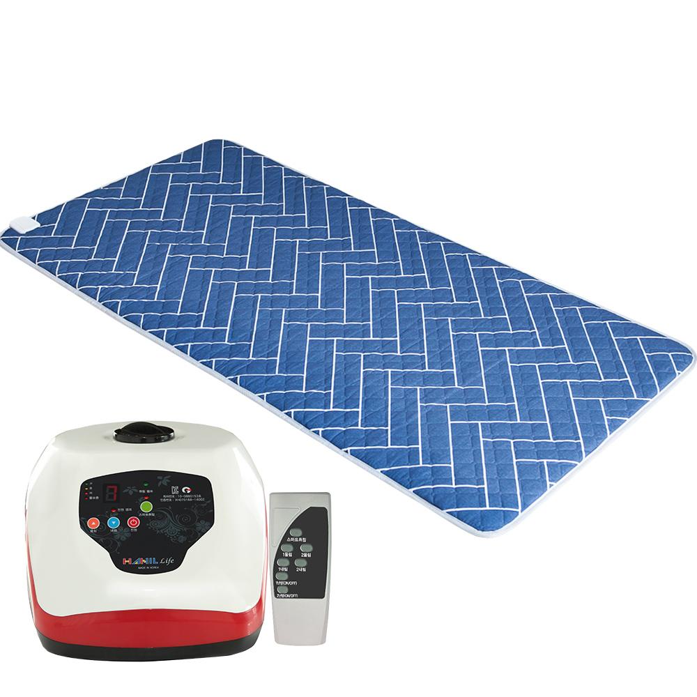 한일생활건강 리모컨 온수매트 네이비 HL-0022, 싱글(100 x 200 cm)