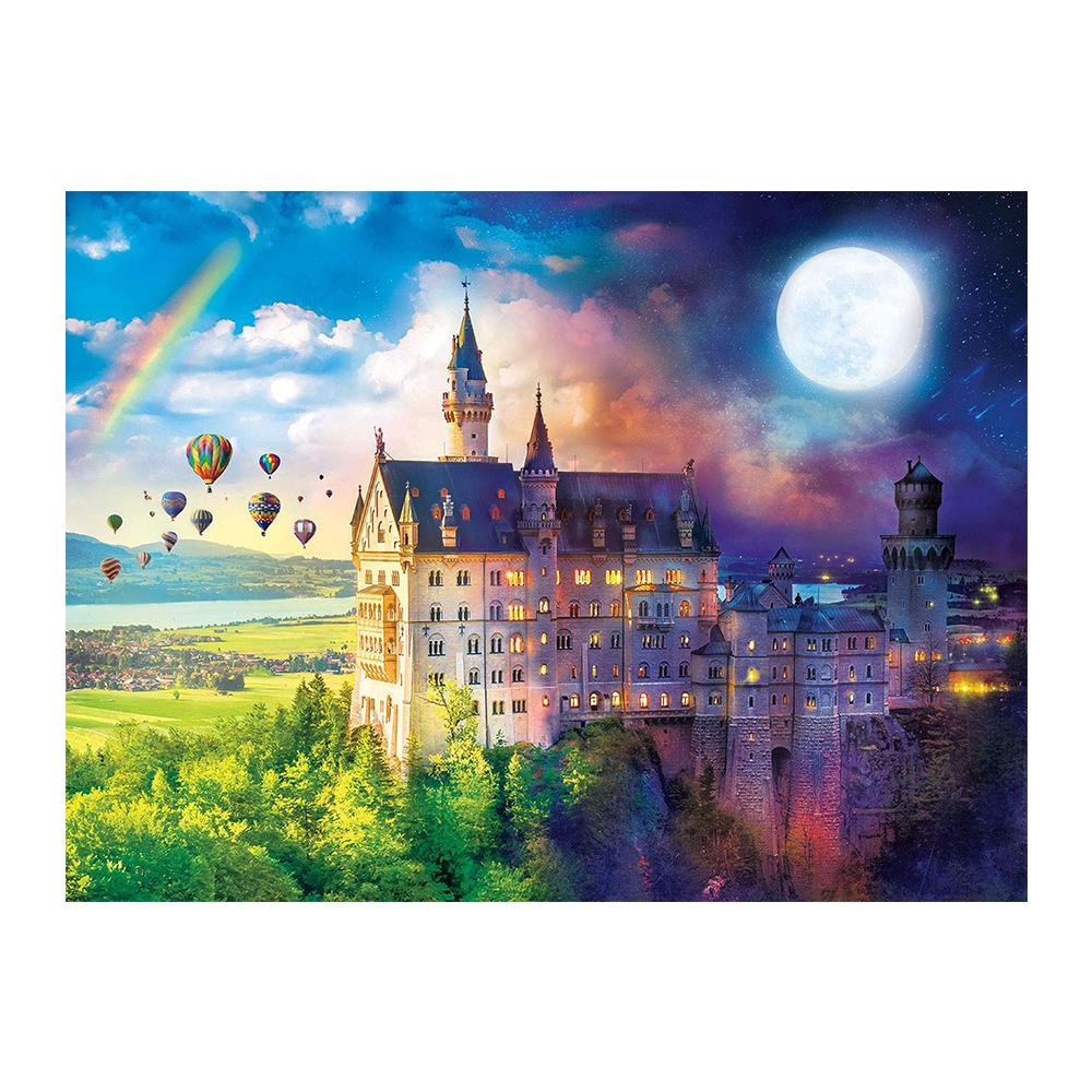 로앤뷰 DIY 큐빅 비즈 보석 십자수 원단형 30 x 40 cm, 왕국 궁전, 1개