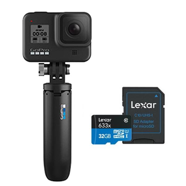 고프로 HERO 9 Black 액션캠 SPBL1 + 미니 연장봉 익스텐션 폴 삼각대 쇼티 + 메모리 32GB 세트