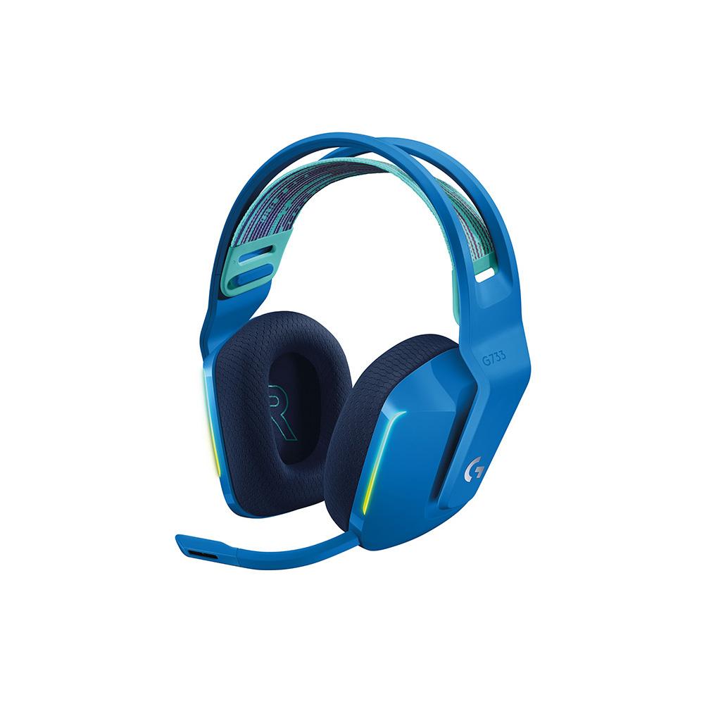 로지텍 G733 7.1 서라운드 무선 게이밍 헤드셋, 블루, A00125