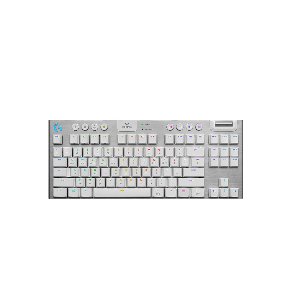로지텍 G913 텐키리스 무선 게이밍 키보드, YR0076, 화이트