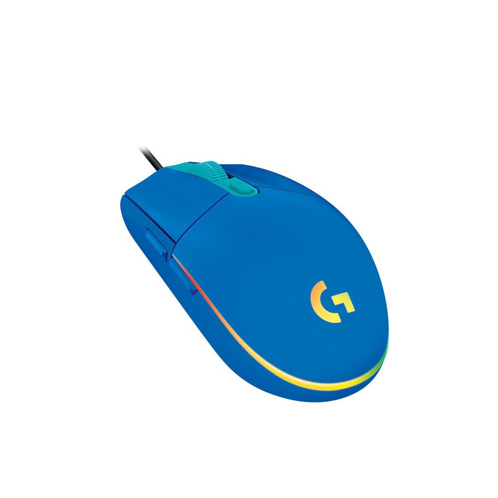 로지텍 G102 2세대 LIGHTSYNC 게이밍 유선마우스 MU0054, 블루