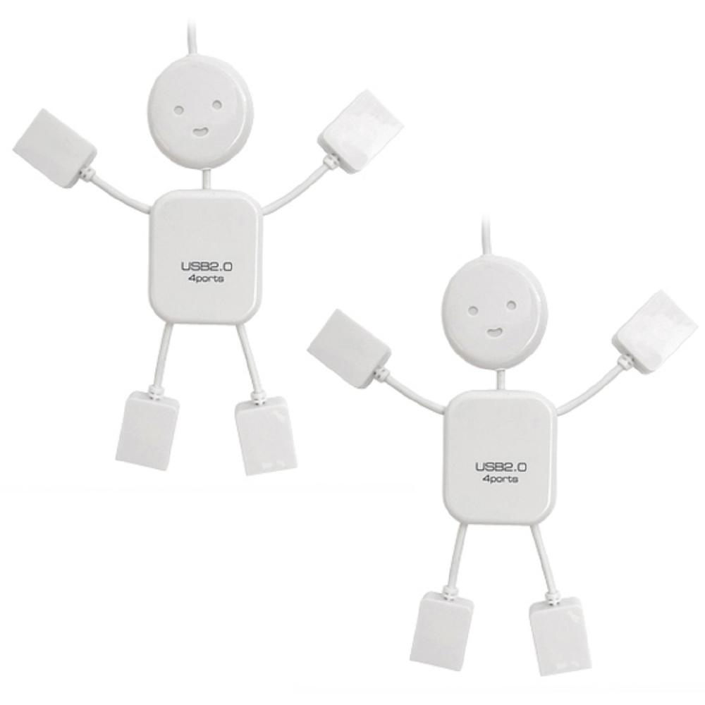 플라이토 아이맨 USB 허브 4포트 2p, 화이트