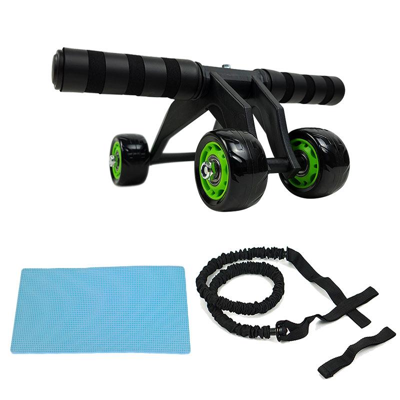 뷰리언즈 4휠 파워 슬라이드 + 무릎보호용 매트 + 파워 튜빙밴드 세트, 혼합색상