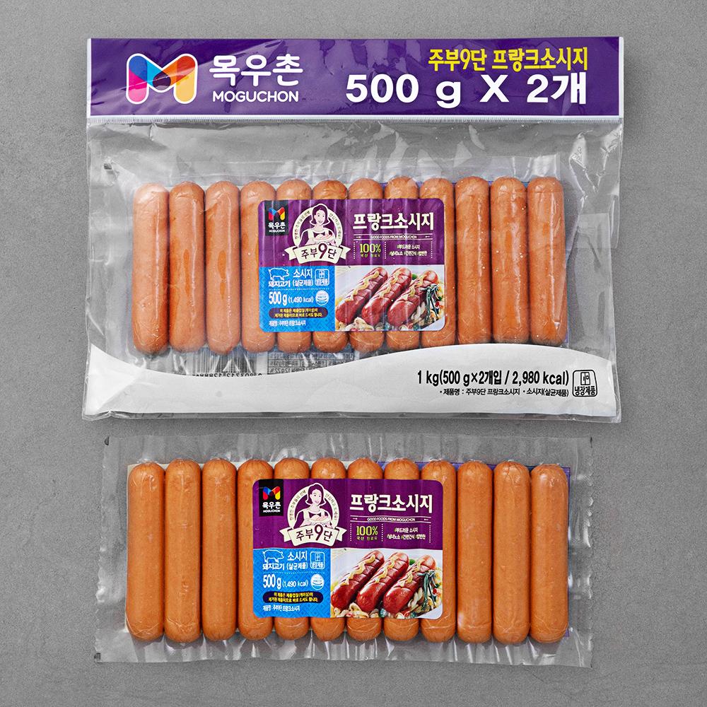 목우촌 주부9단 프랑크 소시지, 500g, 2개