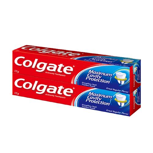 콜게이트 그레이트 레귤러 플레이버 치약, 175g, 2개