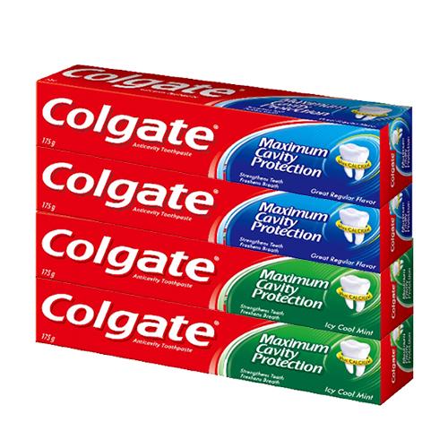 콜게이트 치약 플레이버 175g x 2p + 쿨민트 175g x 2p, 1세트