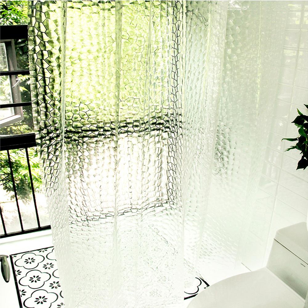 [샤워커튼] 3D 입체 EVA 방수 샤워커튼 180 x 200 cm BR-C661 + 커튼링 12p, 1세트 - 랭킹9위 (9800원)