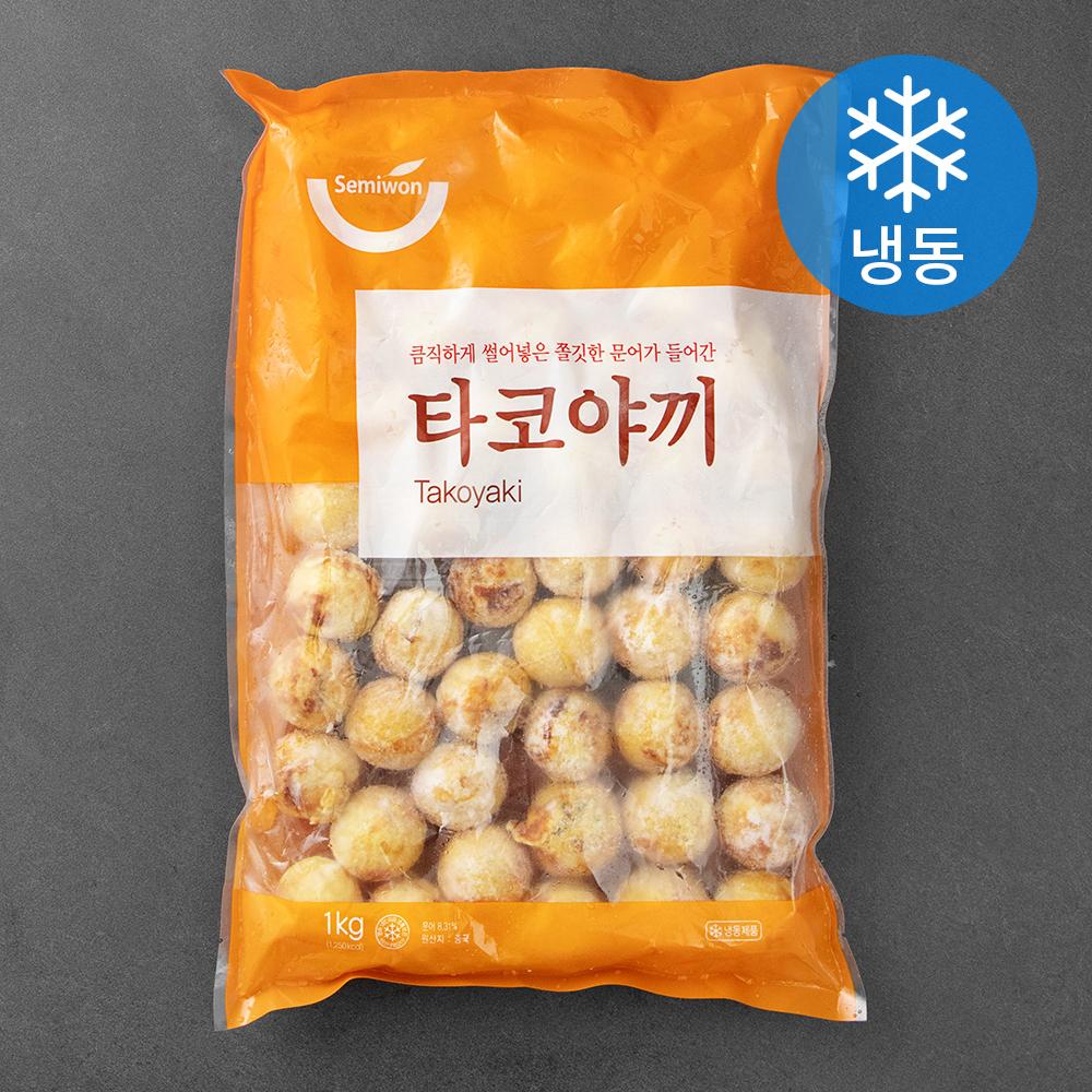 [타코야끼] 세미원 타코야끼 (냉동), 1kg, 1개 - 랭킹1위 (6620원)