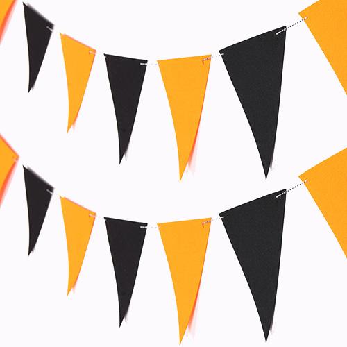 펠트 할로윈 삼각가랜드 2p, 오렌지 앤 블랙