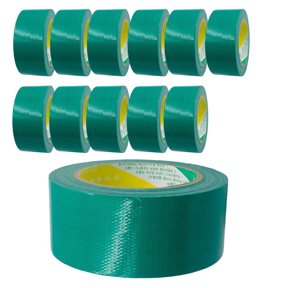 코랙코리아 청테이프 48mm x 15m, 녹색, 12개