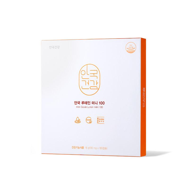 안국건강 루테인 미니100 + 쇼핑백 선물세트, 180정, 1개