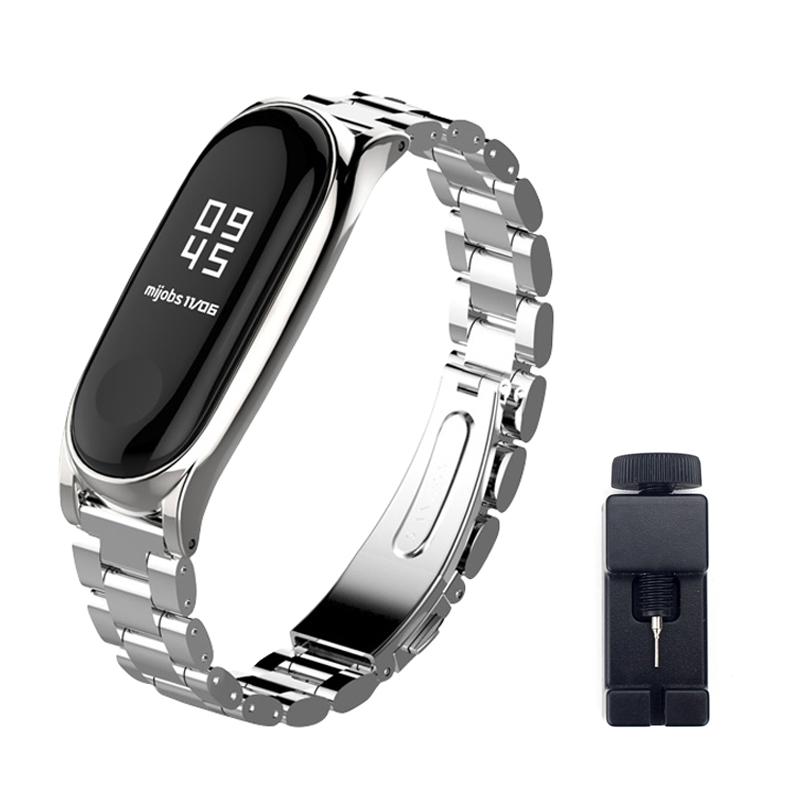 구디푸디 샤오미 미밴드5 메탈Plus 스트랩 + 시계줄 조절 공구, 1개, 실버