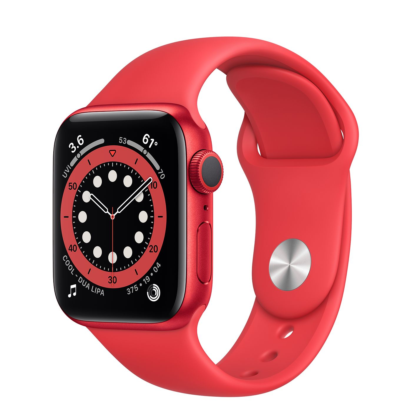 Apple 애플워치 6, GPS, (PRODUCT)RED 알루미늄 케이스, (PRODUCT)RED 스포츠 밴드