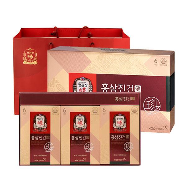 정관장 홍삼진건 파우치 + 쇼핑백, 40ml, 30개