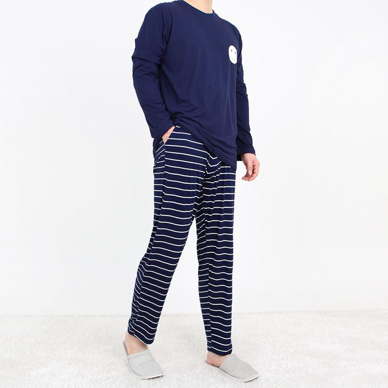JBFX 남성용 피치기모 포인트 잠옷 상하세트
