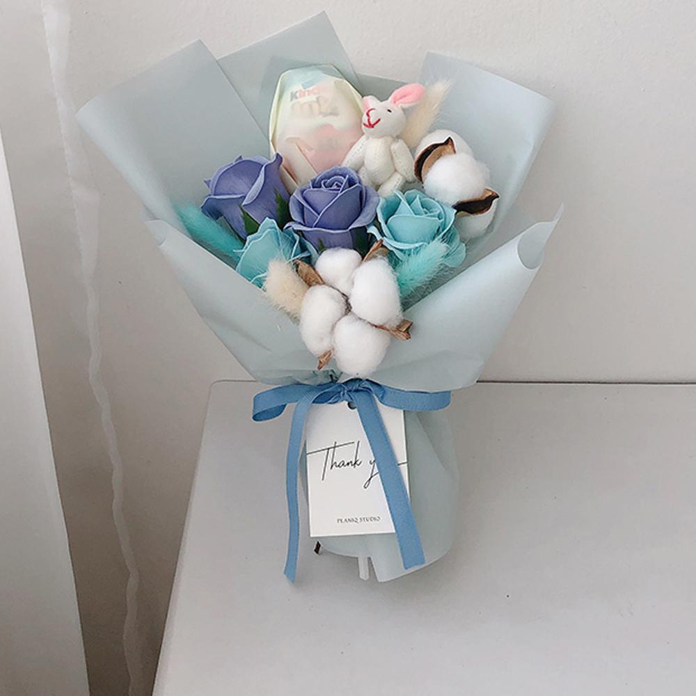 귀염뽀짝 킨더조이 미니 꽃다발, 블루