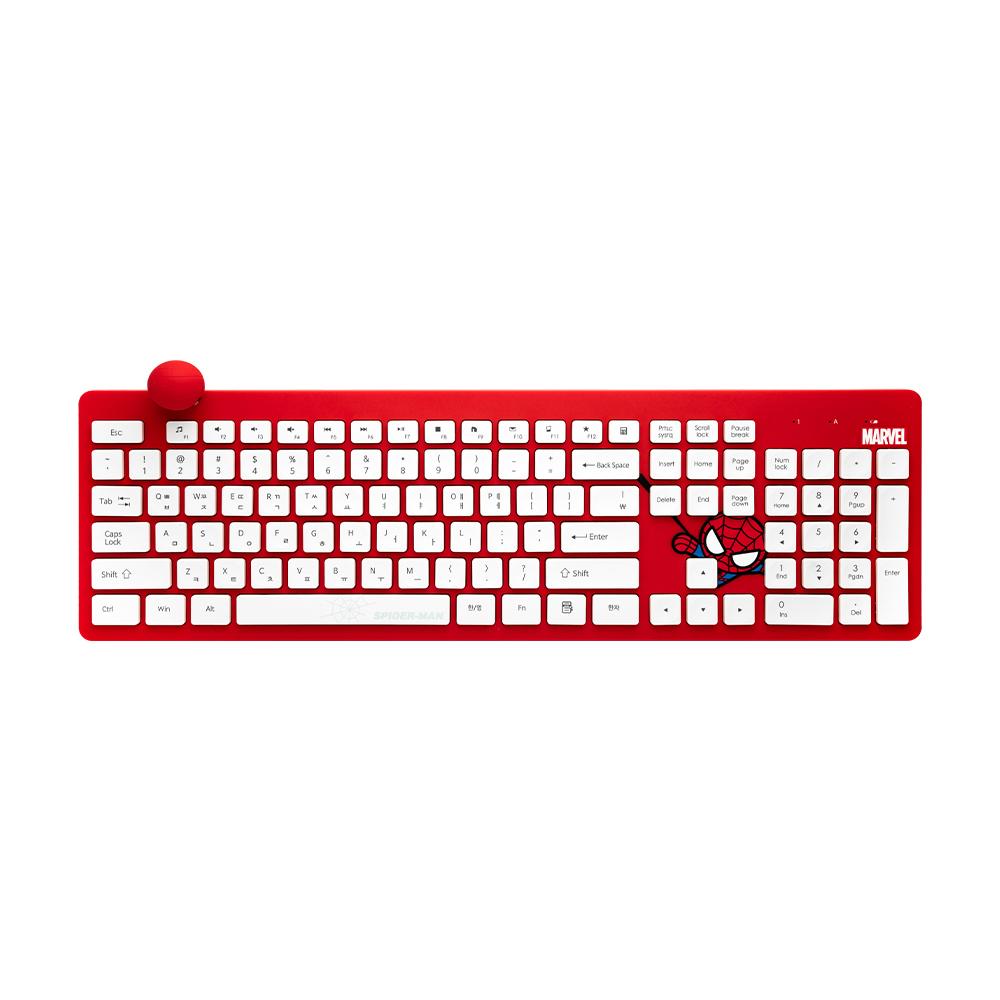 마블 카와이 무선키보드, MKK-02, SPIDER MAN RED + WHITE