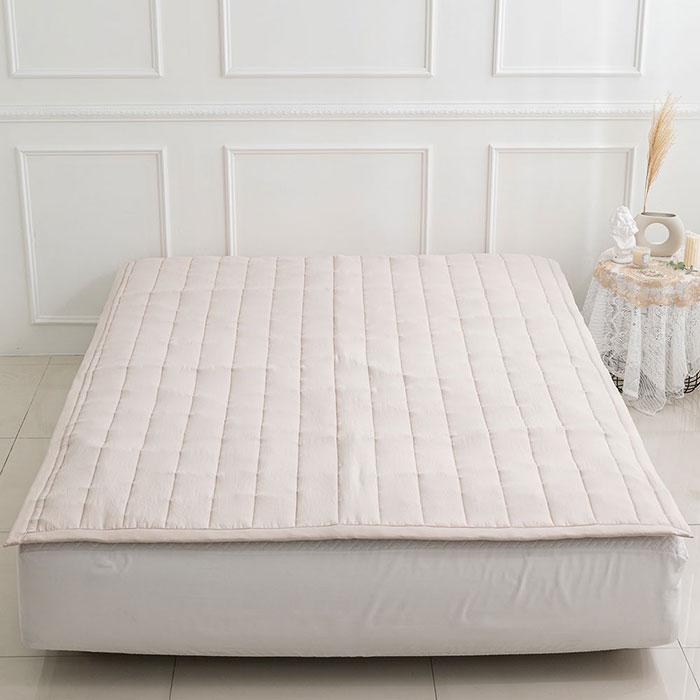 [항균 이불] 믹스앤매치 로이 고정밴딩 침대패드, 베이지 - 랭킹94위 (18900원)