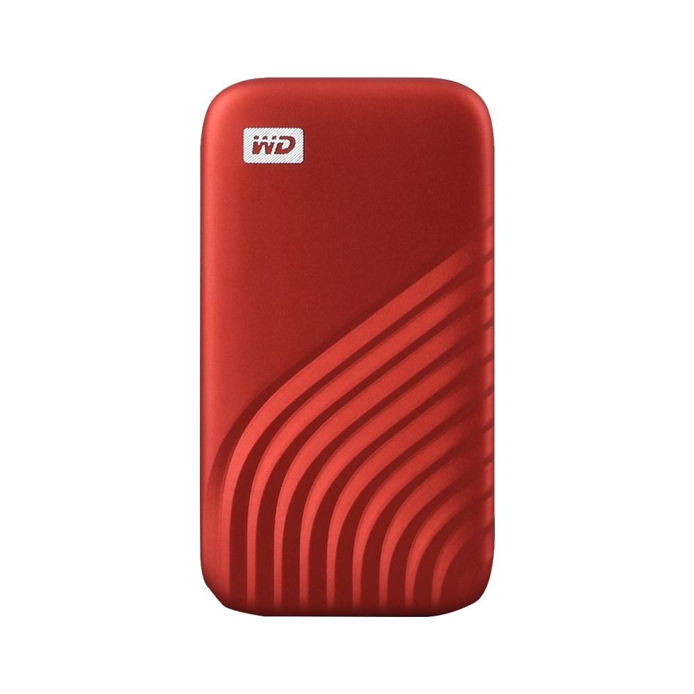 WD My Passport SSD, 500GB, Red