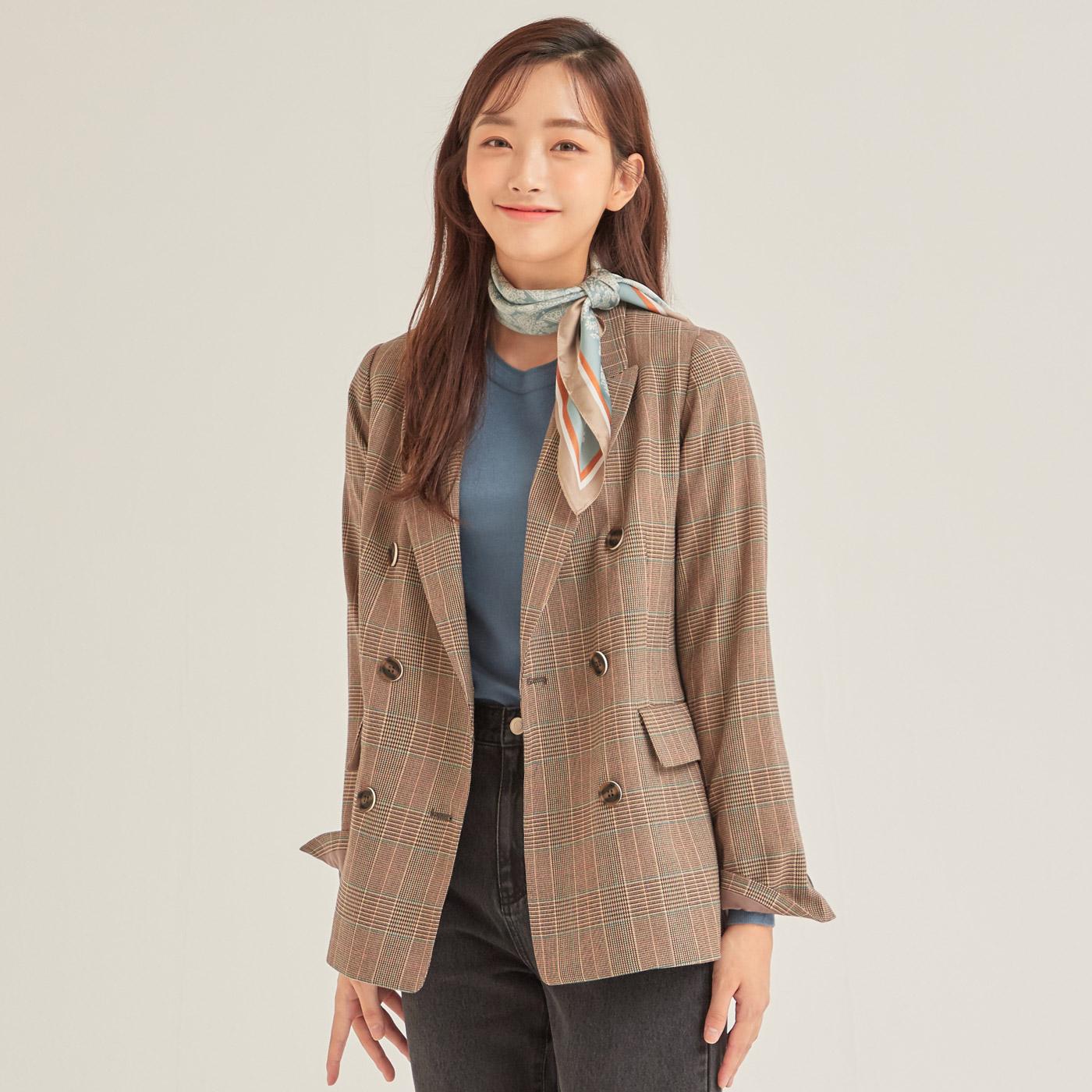 로엠 여성용 테일러드 수트 2 더블 자켓