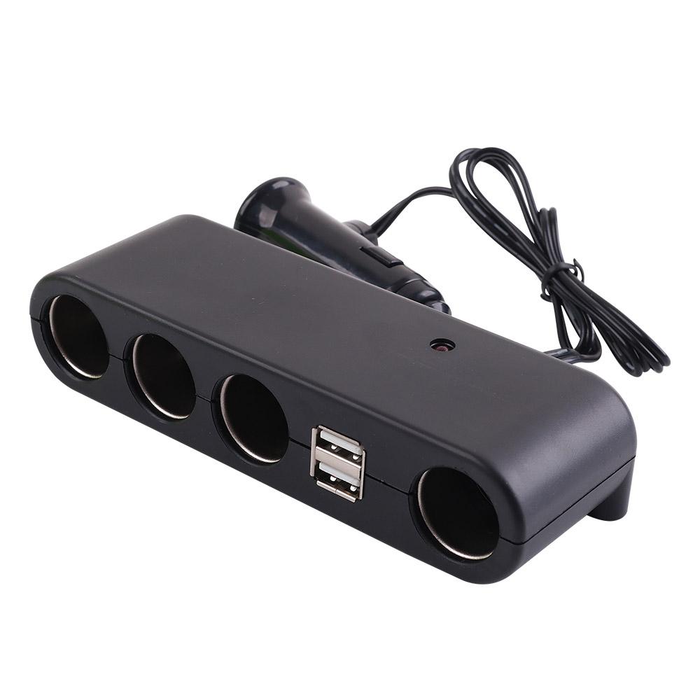 컴스 차량용 멀티 충전기 4구 시거잭 USB 2포트, BD919 (POP 2146013994)