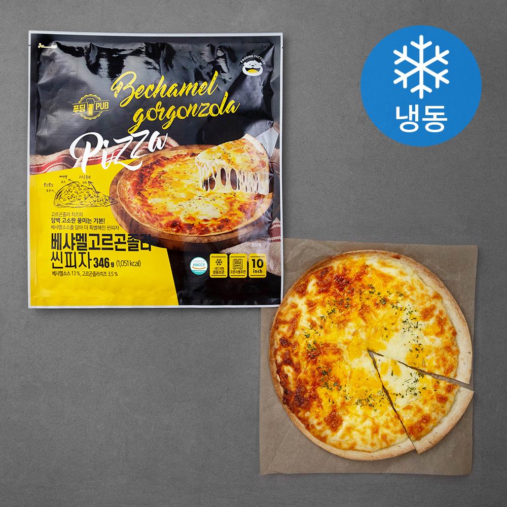 푸딩팩토리 베샤멜 고르곤졸라 씬피자 (냉동), 346g, 2개