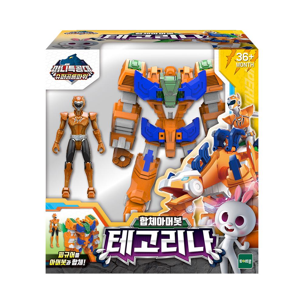 미니특공대 슈퍼공룡파워 아머봇 테고리나 로봇완구, 혼합색상