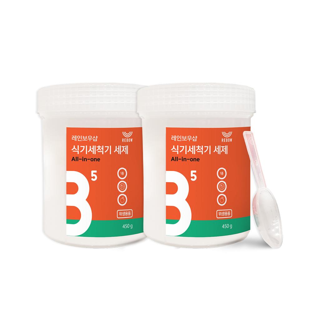 레인보우샵 올인원 식기세척기 세제, 450g, 2개