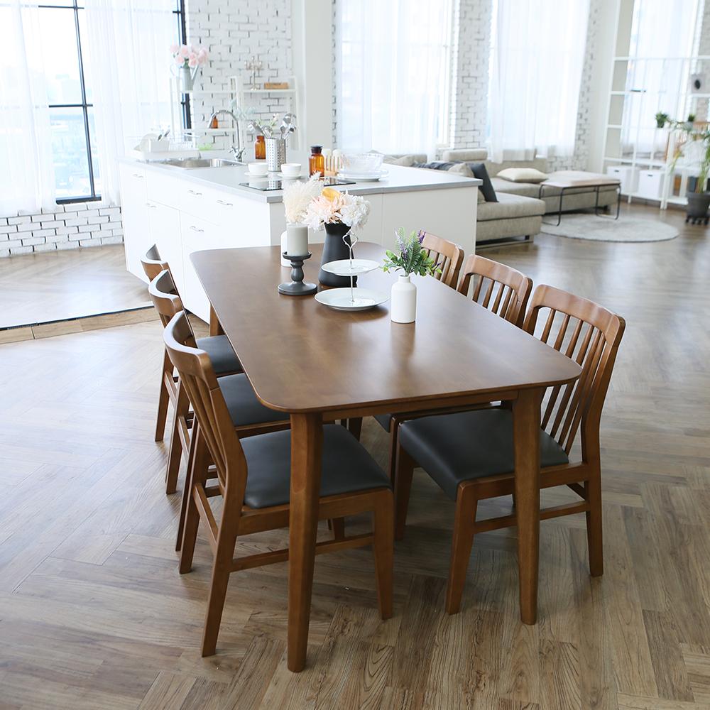 참갤러리 데이지 원목 식탁 의자 세트 6인 방문설치, 혼합색상