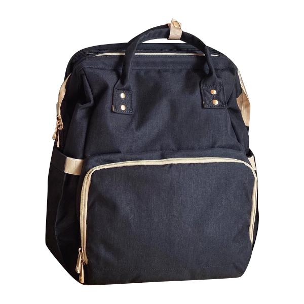 지아지조 휴대용 기저귀가방, 블랙