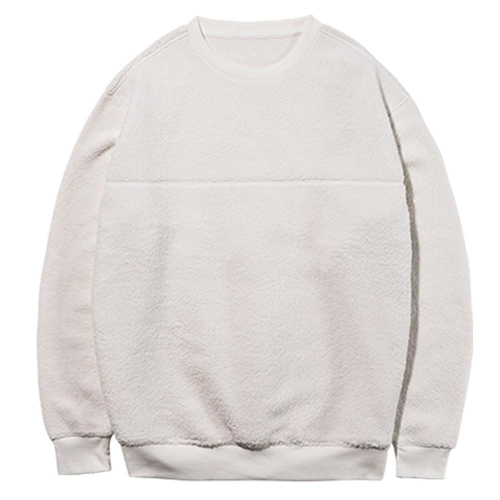 파라고나 남성용 기능성 웜히트 양털 기모 라운드 맨투맨 티셔츠