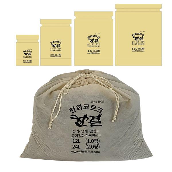 한결 탄화코르크 탈취제 본품 2kg x 10p + 소분 봉지 세트, 1세트