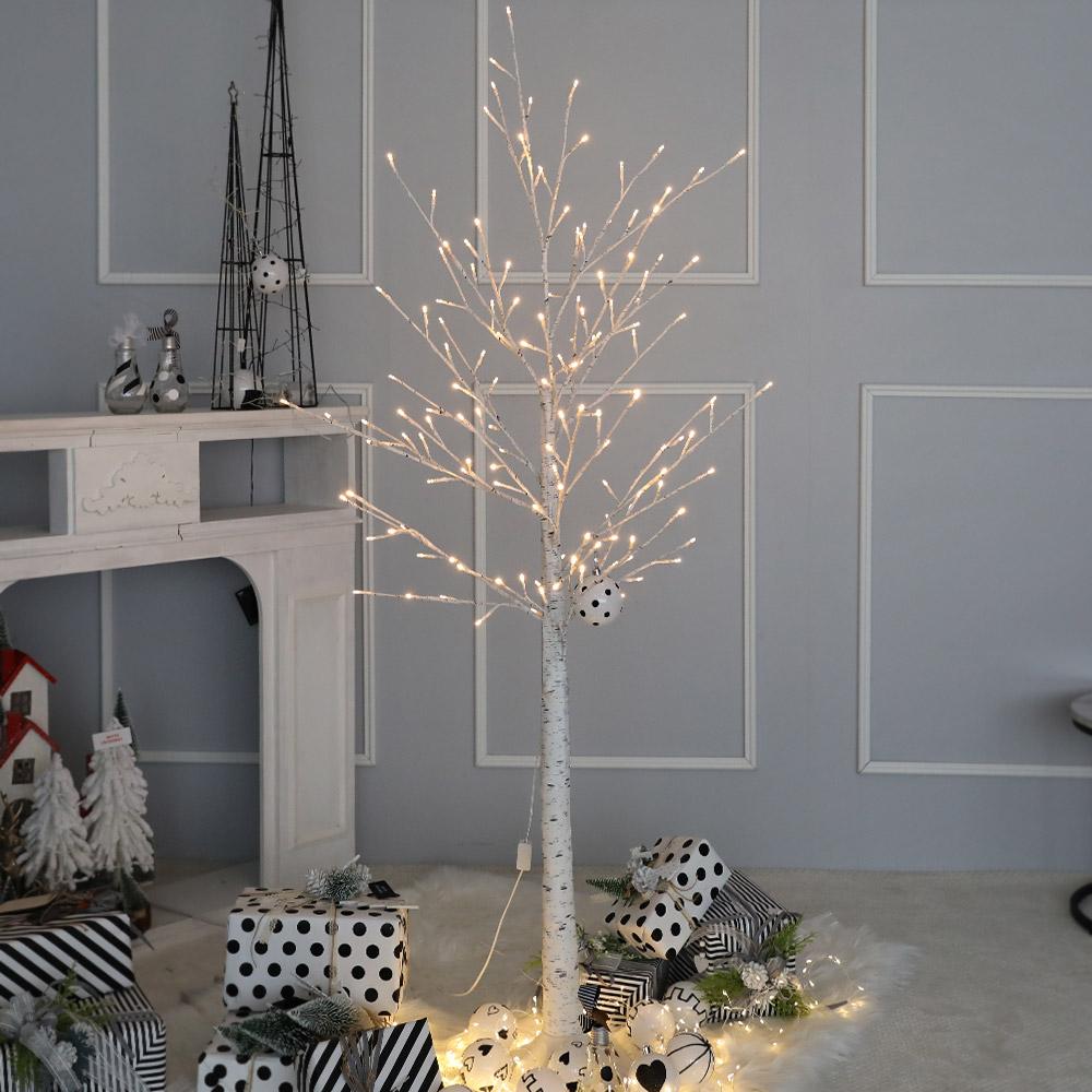 조아트 LED 크리스마스 트리, 화이트 자작