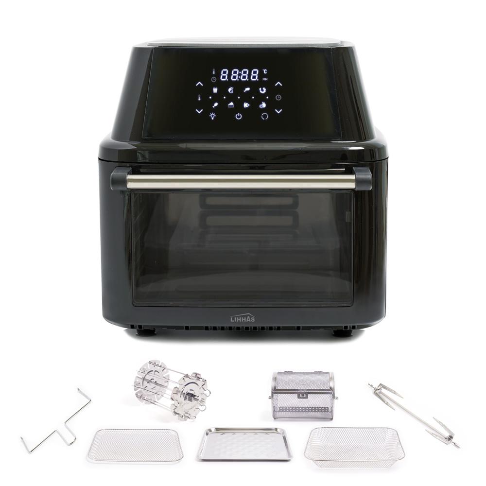 리하스 올스텐 오븐 에어프라이어 16L, KHD-16L, 카카오 블랙 (POP 2155367541)