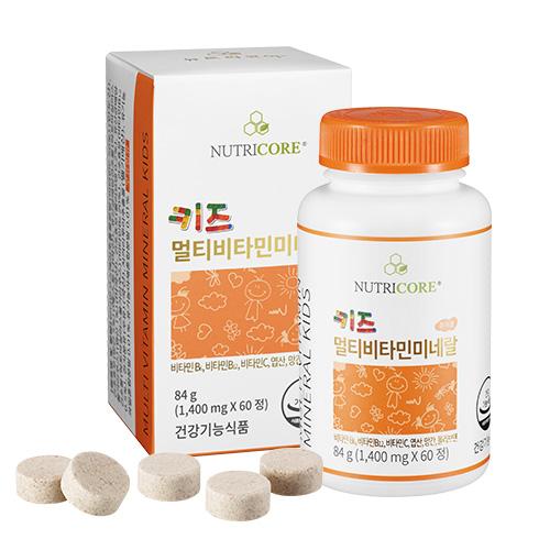 뉴트리코어 키즈 멀티 비타민 미네랄 84g, 60정, 1개