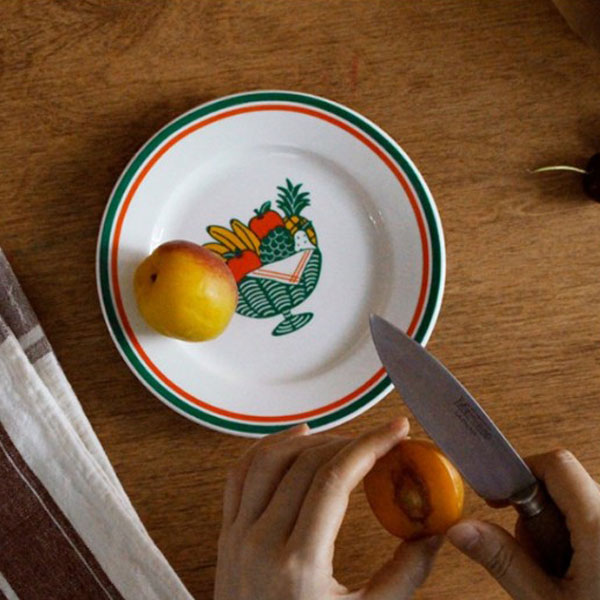 후르츠 빈티지 일러스트 미니 접시, 2개, 단품