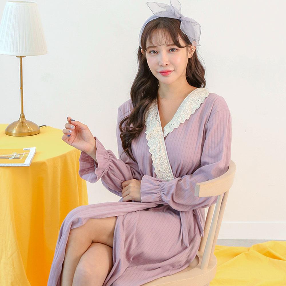 테라우드 여성용 비올레타 레이스 가운 원피스 잠옷