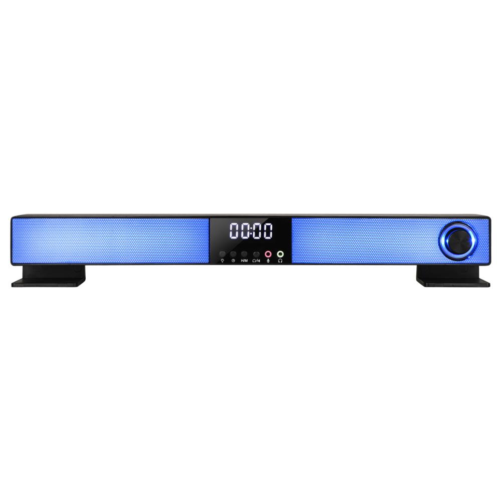 앱코 RGB 디지털 시계 사운드바 스피커, S1300