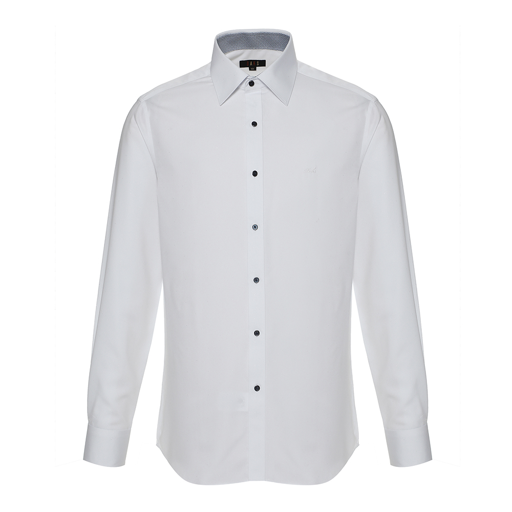 닥스 남성용 노케어 도비 자가드 커프스포인트 배색 와이셔츠 컨템포핏 PR DGF1SHDL210A1